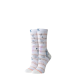 STANCE socks Hippie Moshpit Crew Off White